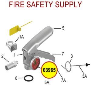 Amerex 03965 Gauge 195 Dry Chemical Brass Valve