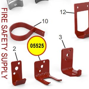 Amerex 05525 Bracket Wall 820 Aluminum Red