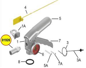 Amerex 01926 Nozzle .129 Anodized