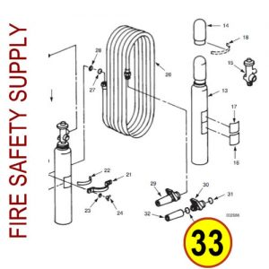 Ansul 12734 Gasket, LR Nozzle Assembly