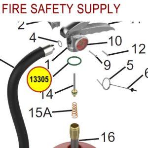 Amerex 13305 O-Ring Collar Brass Halotron Sales
