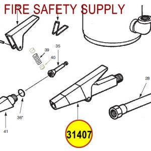 Ansul 31407 Red Line Nozzle Assembly