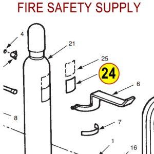 Ansul 3391 Label, Nitrogen Cylinder
