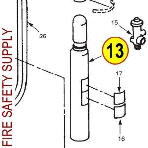 Ansul 54697 Cylinder, Nitrogen, 55 Q.O., CR