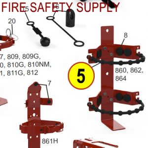 Amerex 860 Heavy Duty Rubber Strap Bracket Red