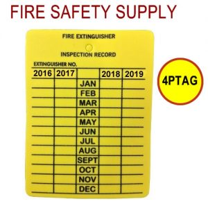 4 year plastic inspection tag - 4PTAG