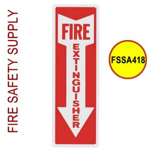 "Fire Extinguisher sign, Vinyl, 4"" x 18"" - FSSA418"