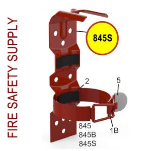 Amerex 845S - Vehicle Bracket -Red - 2 Strap - All 1 lb., 1 and quarter inch, 1.4 lb. Aluminum Valve Models