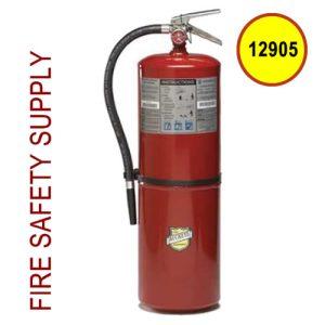 Buckeye 12905 Fire Extinguisher, 10A:120B:C, 30 lb, 28inH