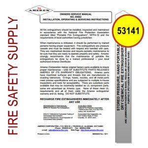 Ansul 53141 Wheeled Extinguisher Regulator Test Manual